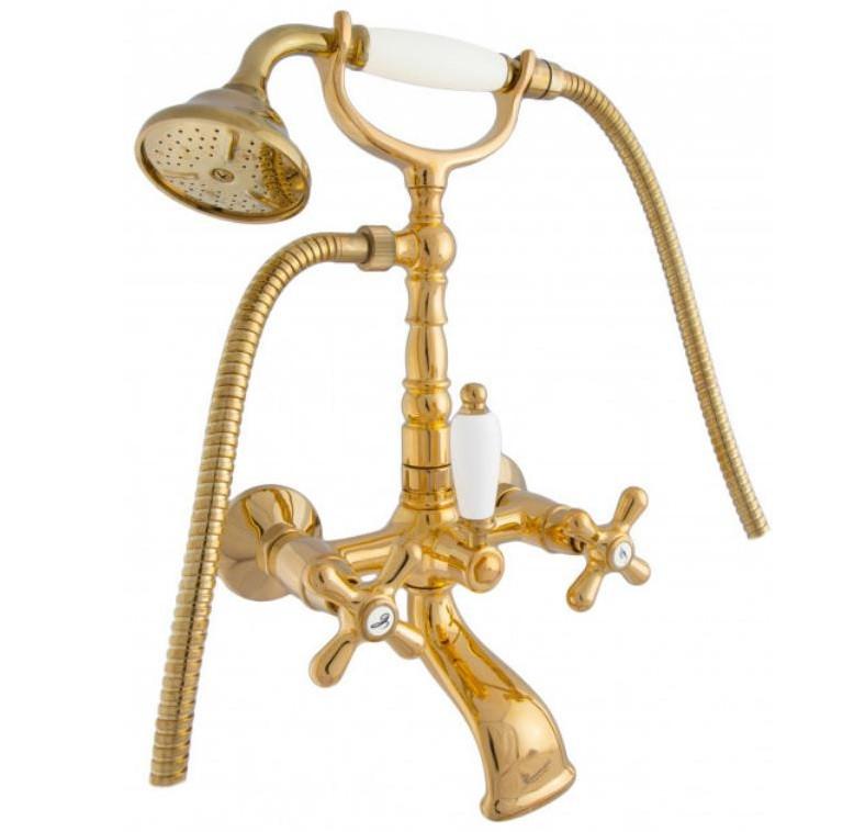 Смеситель для ванны Emmevi DECO OLD высокая (золото)