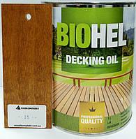 BIOHEL DECKING OIL масло для террас 1 л. №35 - ТИК.