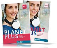 Planet Plus A2.2, Kursbuch + Arbeitsbuch / Учебник + Тетрадь (комплект) немецкого языка