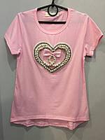 Подростковая футболка с бусинами для девочки 12 л, фото 1