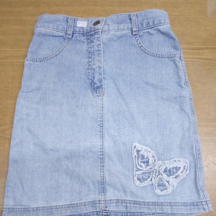Джинсовая юбка (голубая)