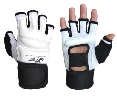 Перчатки для тхэквондо, карате киокушинкай с фиксатором запястья WTF размер S