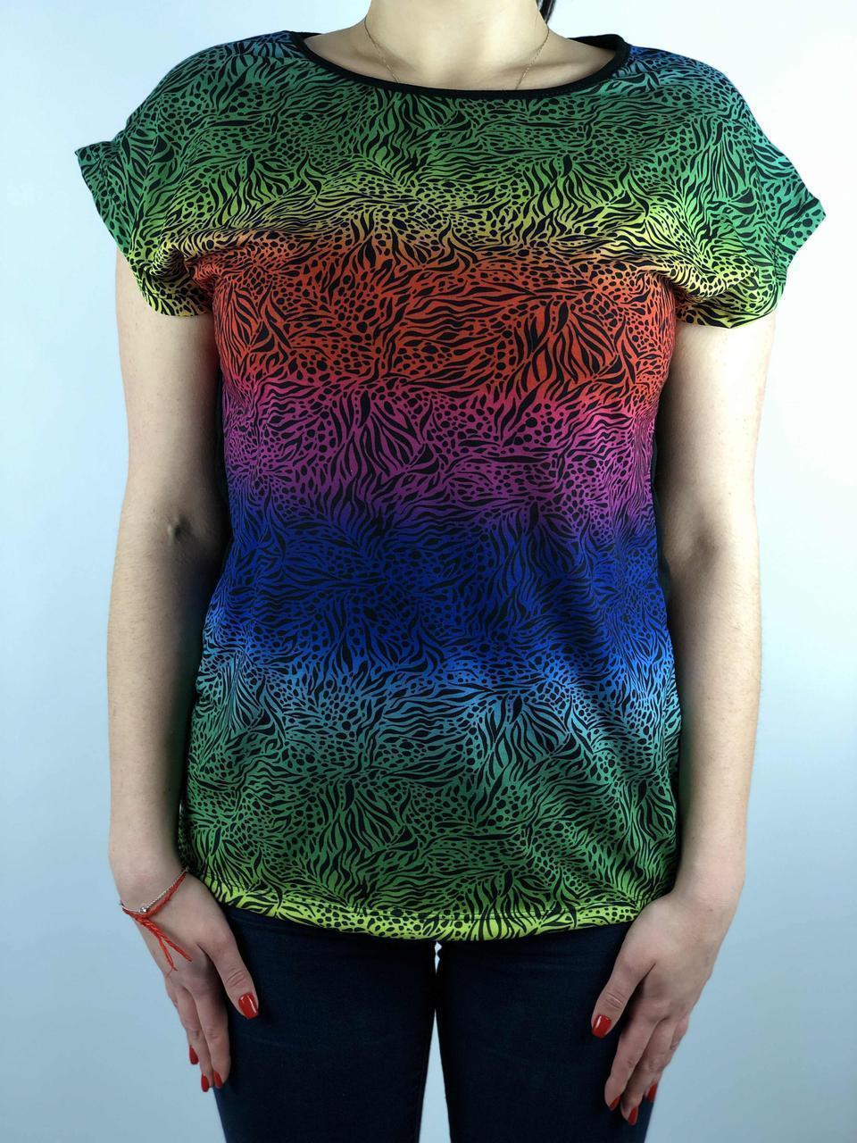 Стильная  Женская  футболка купить оптом 7 км