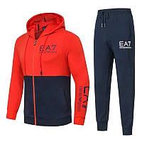 Спортивный костюм EA7 Emporio Armani Athletic Cotton Tracksuit M Синий с красным (88264)