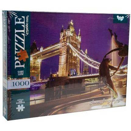 Классический пазл 1000 элементов (10 серия) Danko toys Тауэрский мост, фото 2