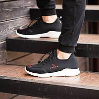 Мужские кроссовки South Deimos Black, легкие классические черные кроссовки на лето