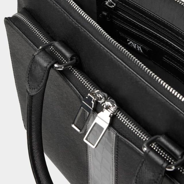 Черный мужской портфель Zara