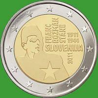 Словения 2 евро 2011 г. 100 лет со дня рождения Франца Розмана. UNC