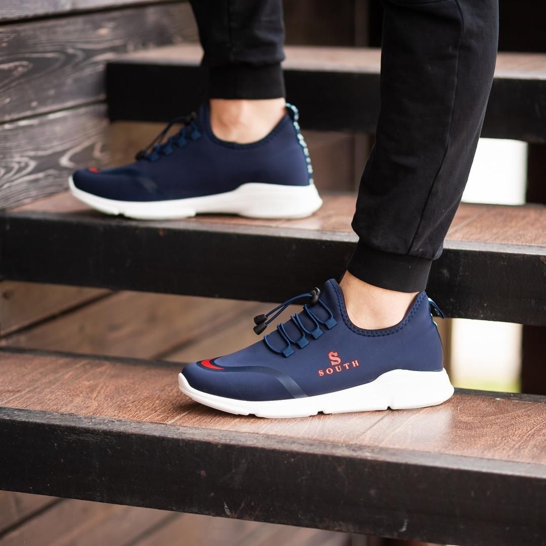 Мужские кроссовки South Deimos NAVY, легкие классические синие кроссовки на лето