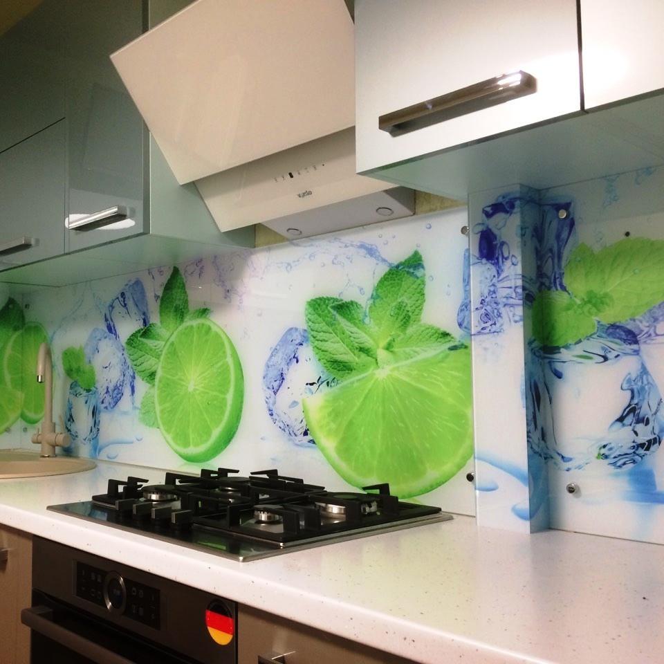 Рабочий фартук для кухни - лайм со льдом и мятой