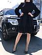 Платье женскоее  черное ажурное, фото 2