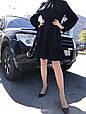 Платье женскоее  черное ажурное, фото 4