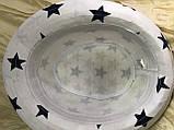Детско подростковая шляпа белая в синих звёздах 50 -52 см, фото 2