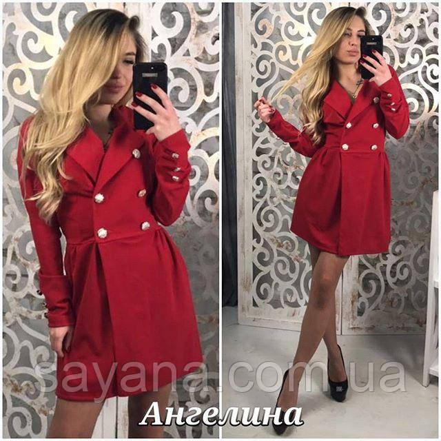 модное платье пиджак оптом