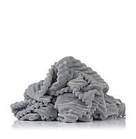 Минки плюш stripe серый .80:100см