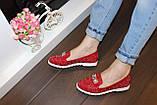 Туфли женские красные лаковые код Т245, фото 5