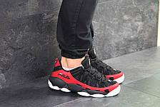 Мужские кроссовки Fila Heritage Studio Spaghetti,черные с красным 42,44р, фото 3