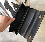 Сумка клатч женская черная код 7-7015, фото 3