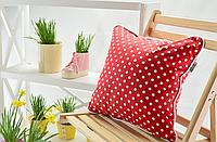Квадратная декоративная подушка в горошек, в ассортименте
