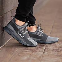 Мужские кроссовки South Fresh Dk.Gray, легкие классические черные кроссовки на лето