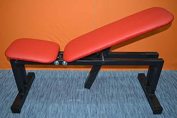Скамья для жима лежа, лавка универсальная MALCHENKO,  регулируемая 0-85+, 0-30+, красная