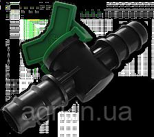 Кран 2-x штекерный для трубки 25мм