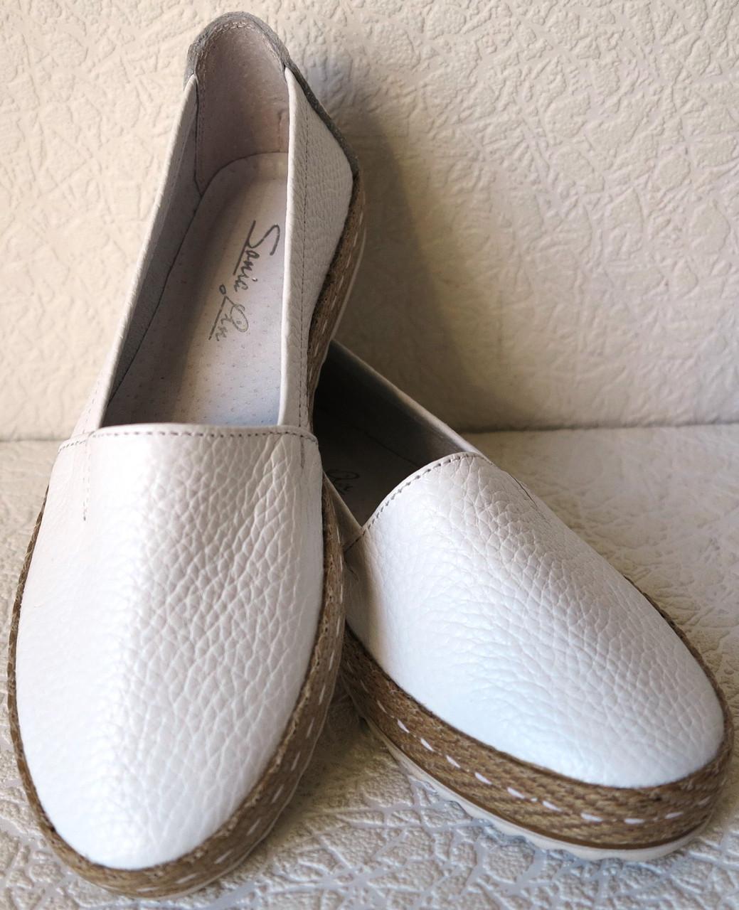 3d6523556 Кожаные слипоны для девочек и девушек мокасины туфли универсальные белого  цвета, цена 750 грн., купить в Харькове — Prom.ua (ID#953301288)
