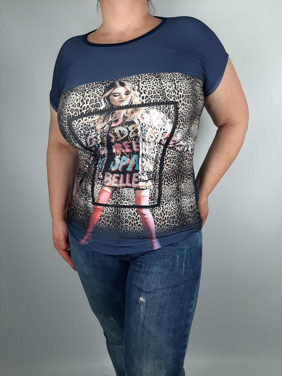 Красива жіноча футболка батального розміру