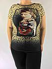 Красивая женская футболка батального размера, фото 2