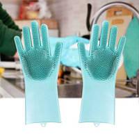 Силиконовые многофункциональные перчатки для мытья и чистки Magic Silicone Gloves