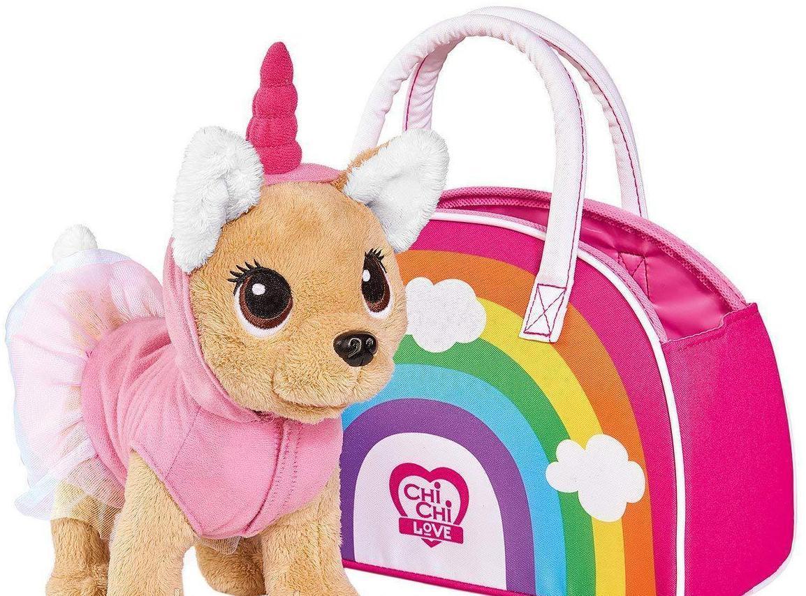 ОРИГИНАЛ Собачка Фешн Чи Чи Лав Единорог в платье с сумочкой, Simba Toys Chi Chi Love, 5893246