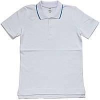 Детское поло для мальчика, белая футболка, рост 140 см, 146 см, ТМ Ля-ля