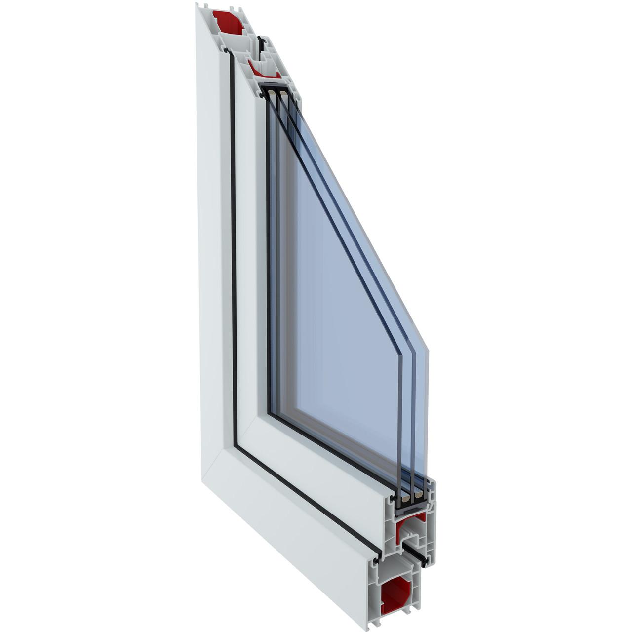 Металлопластиковое окно из профиля LWS 3