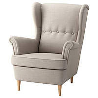 IKEA STRANDMON Кресло, Шифтебу светло-бежевый  (003.610.49), фото 1