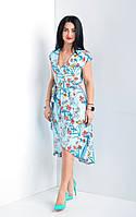 Легкое женское летнее платье. Размеры 44-52