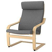 IKEA POANG Кресло, березовый шпон, лизированы серый  (892.416.33), фото 1