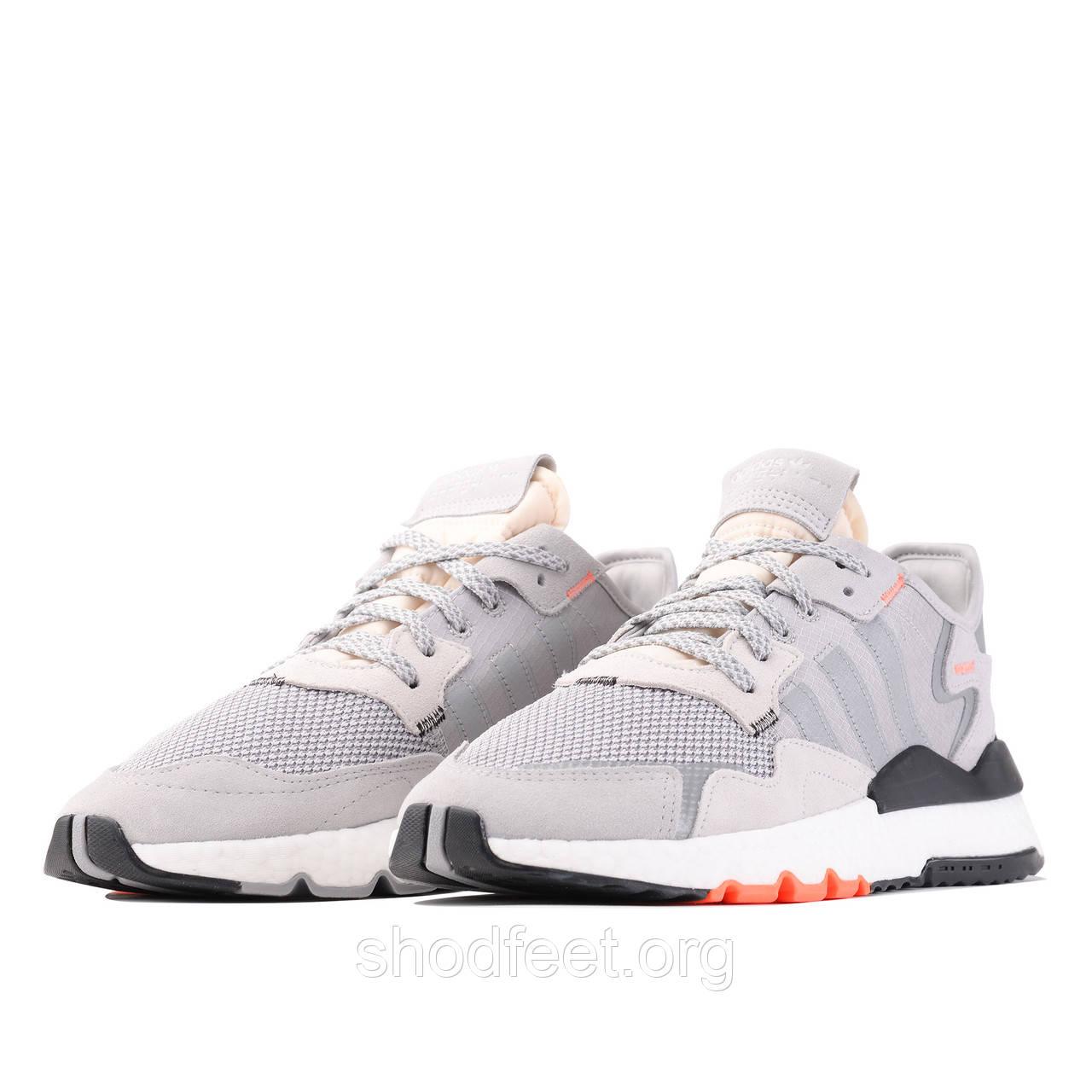 Мужские кроссовки Adidas Nite Jogger Boost Grey