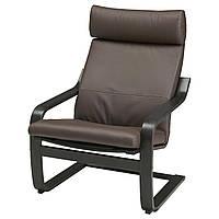 IKEA POANG Кресло, черно-коричневый, голос прочный темно-коричневый  (598.291.25), фото 1