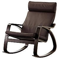 IKEA POANG Кресло-качалка, черно-коричневый, голос прочный темно-коричневый  (599.008.57), фото 1