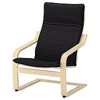 IKEA POANG Кресло, березовый шпон, Книса черный  (692.408.23), фото 1