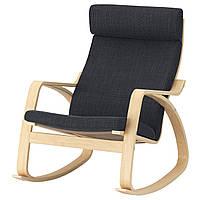 IKEA POANG Кресло-качалка, березовый шпон, Hillared антрацит  (392.010.26), фото 1