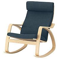 IKEA POANG Кресло-качалка, березовый шпон, Hillared (192.010.51), фото 1
