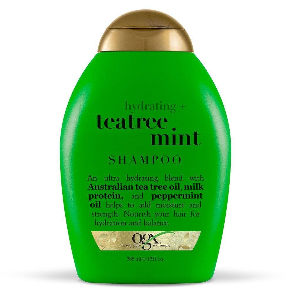 Увлажняющий шампунь с экстрактами зеленого чая и мяты OGX Hydrating Tea Tree Mint Shampoo