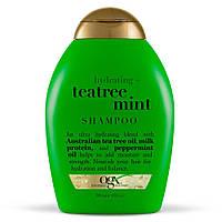Увлажняющий шампунь с экстрактами зеленого чая и мяты OGX Hydrating Tea Tree Mint Shampoo, фото 1