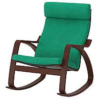 IKEA POANG Кресло-качалка, коричневый, лизированы жаскравозиелони  (392.444.41), фото 1