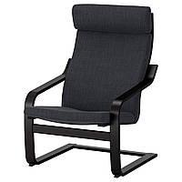 IKEA POANG Кресло, черно-коричневый, Hillared антрацит  (191.977.80), фото 1