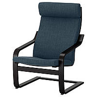 IKEA POANG Кресло, черно-коричневый, Hillared (491.978.11), фото 1