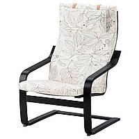 IKEA POANG Кресло, черно-коричневый, Висланде черный/белый  (591.812.25), фото 1