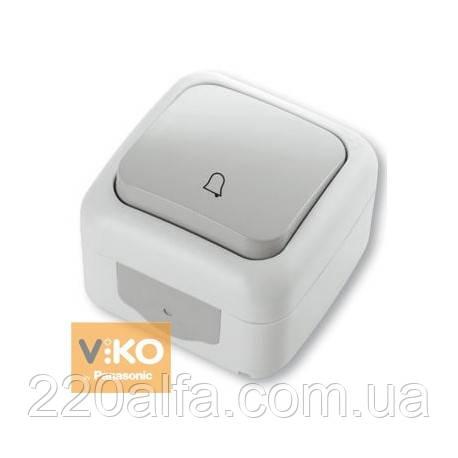 Кнопка звонка Viko PALMIYE (белый и серый)