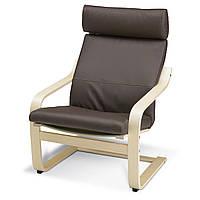 IKEA POANG Кресло, березовый шпон, прочный Glos темно-коричневый  (898.291.19), фото 1